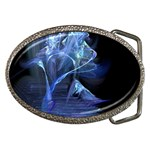 Gothic Blue Ice Crystal Palace Fantasy Belt Buckle