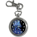 Gothic Blue Ice Crystal Palace Fantasy Key Chain Watch