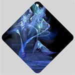 Gothic Blue Ice Crystal Palace Fantasy Car Window Sign