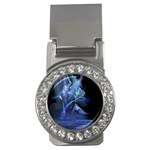 Gothic Blue Ice Crystal Palace Fantasy Money Clip (CZ)