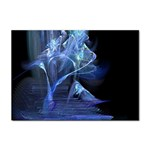 Gothic Blue Ice Crystal Palace Fantasy Sticker (A4)