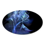 Gothic Blue Ice Crystal Palace Fantasy Magnet (Oval)