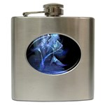 Gothic Blue Ice Crystal Palace Fantasy Hip Flask (6 oz)