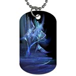 Gothic Blue Ice Crystal Palace Fantasy Dog Tag (Two Sides)