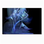 Gothic Blue Ice Crystal Palace Fantasy Postcard 5  x 7