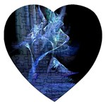 Gothic Blue Ice Crystal Palace Fantasy Jigsaw Puzzle (Heart)