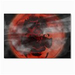 Bloody Gothic Demon Skull Moon Goth Art Postcard 4 x 6  (Pkg of 10)