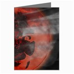 Bloody Gothic Demon Skull Moon Goth Art Greeting Cards (Pkg of 8)