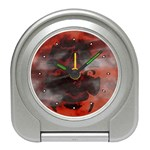 Bloody Gothic Demon Skull Moon Goth Art Travel Alarm Clock