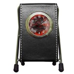 Bloody Gothic Demon Skull Moon Goth Art Pen Holder Desk Clock