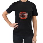 Bloody Gothic Demon Skull Moon Goth Art Women s Black T-Shirt