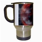 Bloody Gothic Demon Skull Moon Goth Art Travel Mug (White)