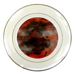 Bloody Gothic Demon Skull Moon Goth Art Porcelain Plate
