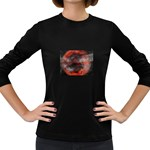 Bloody Gothic Demon Skull Moon Goth Art Women s Long Sleeve Dark T-Shirt