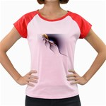 Black Blood Veins Goth Fantasy on White Women s Cap Sleeve T-Shirt