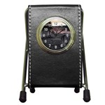 Gothic Old Graveyard Cemetary Goth Pen Holder Desk Clock