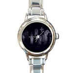 Gothic Graveyard Graves at Night Dark Goth Round Italian Charm Watch