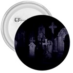 Gothic Graveyard Graves at Night Dark Goth 3  Button