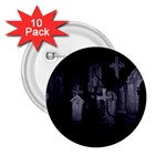 Gothic Graveyard Graves at Night Dark Goth 2.25  Button (10 pack)