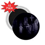 Gothic Graveyard Graves at Night Dark Goth 2.25  Magnet (10 pack)