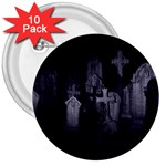 Gothic Graveyard Graves at Night Dark Goth 3  Button (10 pack)