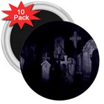 Gothic Graveyard Graves at Night Dark Goth 3  Magnet (10 pack)