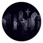 Gothic Graveyard Graves at Night Dark Goth Magnet 5  (Round)