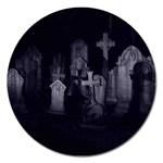 Gothic Graveyard Graves at Night Dark Goth Magnet 5  (Round)
