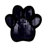Gothic Graveyard Graves at Night Dark Goth Magnet (Paw Print)