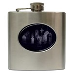 Gothic Graveyard Graves at Night Dark Goth Hip Flask (6 oz)