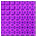 Abstract Dancing Diamonds Purple Violet Large Satin Scarf (Square)