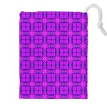 Abstract Dancing Diamonds Purple Violet Drawstring Pouches (XXL)