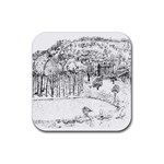 Tenant House-by Ave Hurley Rubber Square Coaster (4 pack)