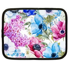 Watercolor Spring Flowers Netbook Case (large)