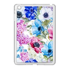 Watercolor Spring Flowers Apple Ipad Mini Case (white)
