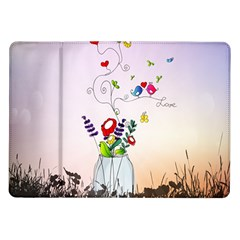 Love Is In The Air Illustration Samsung Galaxy Tab 10 1  P7500 Flip Case