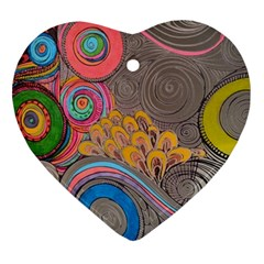 Rainbow Passion Ornament (heart)  by SugaPlumsEmporium