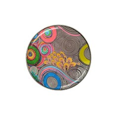 Rainbow Passion Hat Clip Ball Marker (10 Pack) by SugaPlumsEmporium