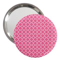 Soft Pink Quatrefoil Pattern 3  Handbag Mirror by Zandiepants