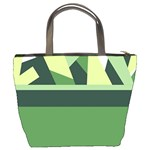 Abstract Jungle Green Brown Geometric Art Bucket Bags from CircusValley Mall Back