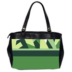 Abstract Jungle Green Brown Geometric Art Office Handbags (2 Sides)  from CircusValley Mall Back