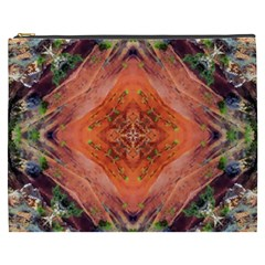 Boho Bohemian Hippie Floral Abstract Faded  Cosmetic Bag (xxxl)  by CrypticFragmentsDesign