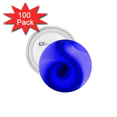 Blue Spiral Note 1 75  Buttons (100 Pack)  by CrypticFragmentsDesign