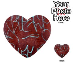 Urban Graffiti Rust Grunge Texture Background Multi Purpose Cards (heart)  by CrypticFragmentsDesign