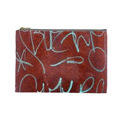 Urban Graffiti Rust Grunge Texture Background Cosmetic Bag (large)  by CrypticFragmentsDesign