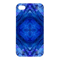 Boho Bohemian Hippie Tie Dye Cobalt Apple Iphone 4/4s Hardshell Case by CrypticFragmentsDesign