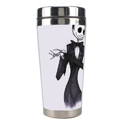 Jack & Sally Addams  Stainless Steel Travel Tumblers by lvbart