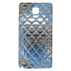 Mirrored Glass Tile Urban Industrial Galaxy Note 4 Back Case by CrypticFragmentsDesign
