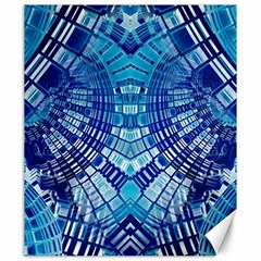 Blue Mirror Abstract Geometric Canvas 20  X 24   by CrypticFragmentsDesign