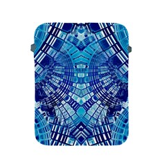 Blue Mirror Abstract Geometric Apple Ipad 2/3/4 Protective Soft Cases by CrypticFragmentsDesign